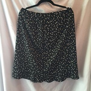 Requirements Ruffled Polka Dotted Skirt